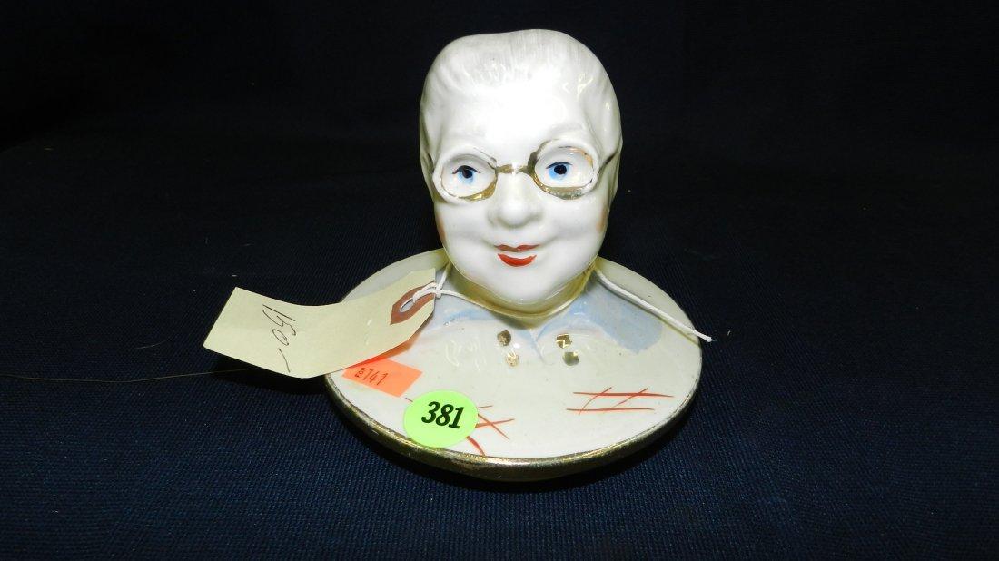 381: rare Regal china granny canister jar lid