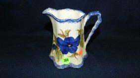 384: antique porcelain blueridge pitcher