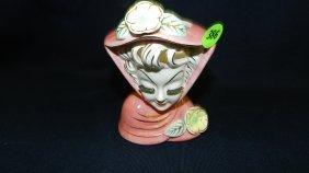Lady Porcelain Head Vase