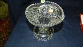 388: crystal punch bowl base