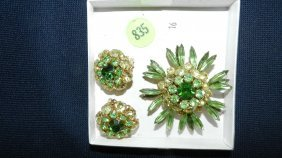 835: great collection of estate jewelry, brooch & earri