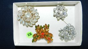 836: great collection of estate jewelry, brooches