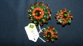 837: great collection of estate jewelry, brooch and ear