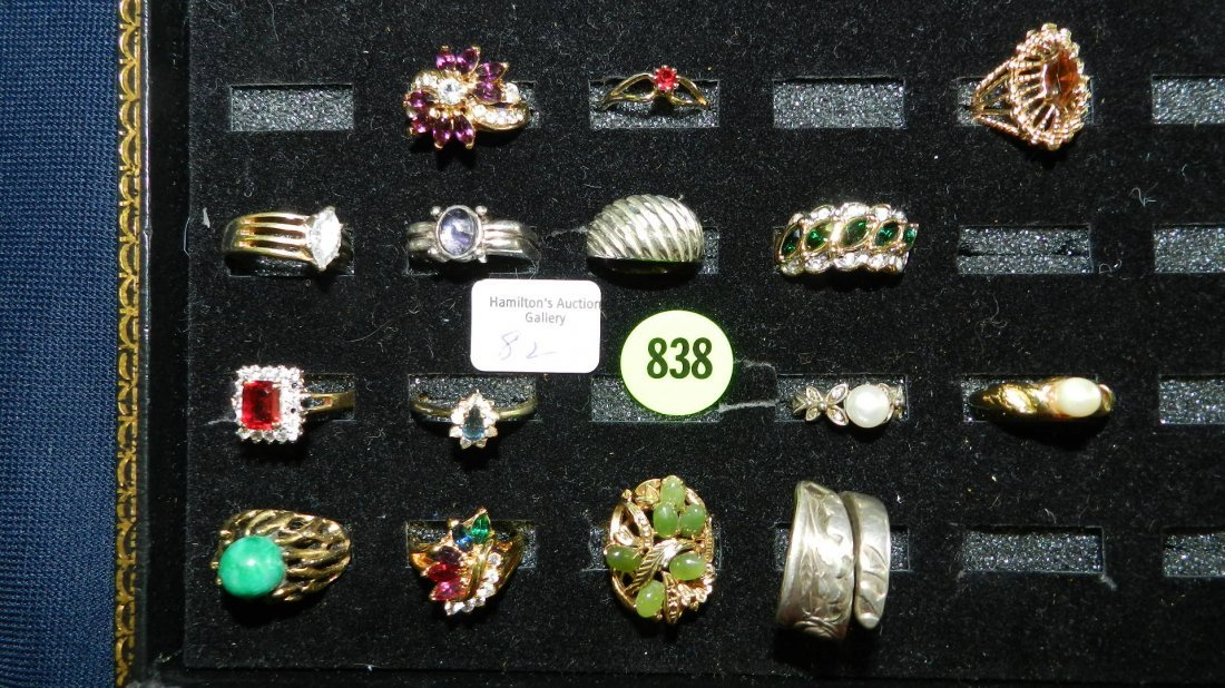 838: great collection of estate jewelry, rings