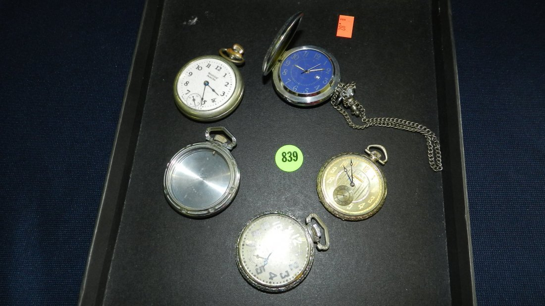 839: great collection of estate pocket watches with one