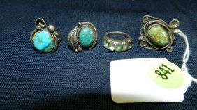 841: great collection of estate jewelry, turquoise ring