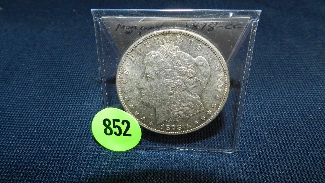 852: nice US 1878-CC (Carson City) Morgan silver dollar