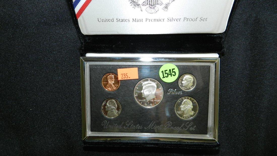1545: 1997 US MINT PREMIER SILVER PROOF FIVE COIN SET