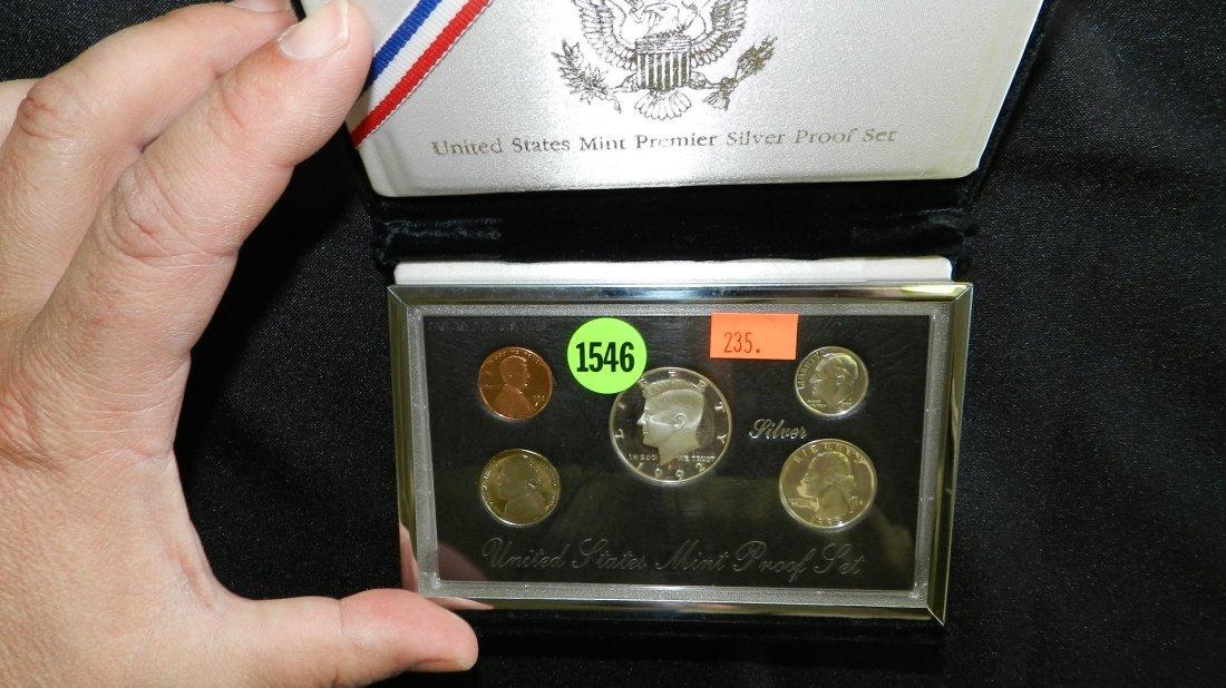 1546: 1992 US MINT PREMIER SILVER PROOF FIVE COIN SET
