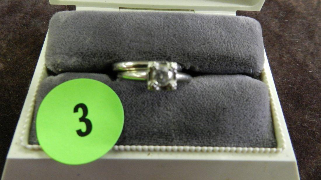 3: 2 piece ladies white gold (14KT) and diamond wedding