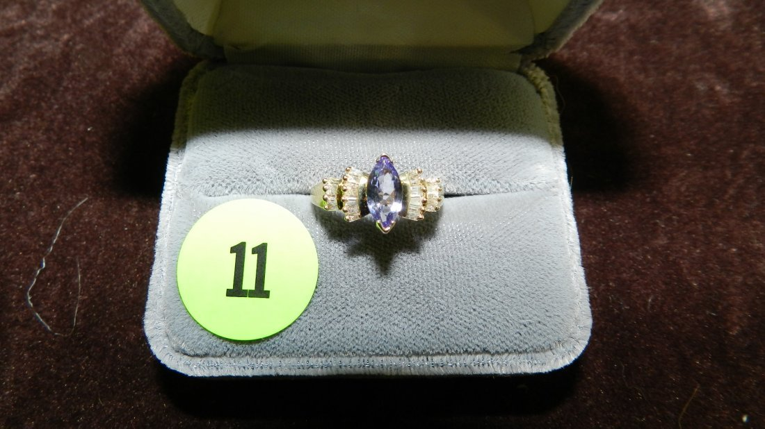 11: very nice ladies gold (14KT) and diamond ring with