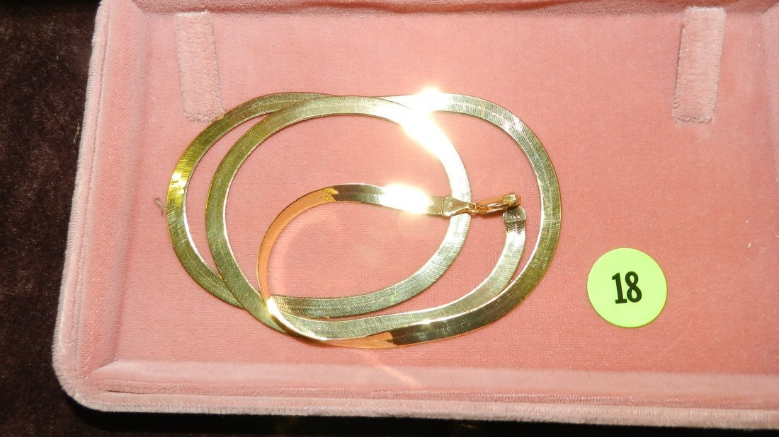 18: nice ladies  gold (14KT) necklace TL gr's approx 13