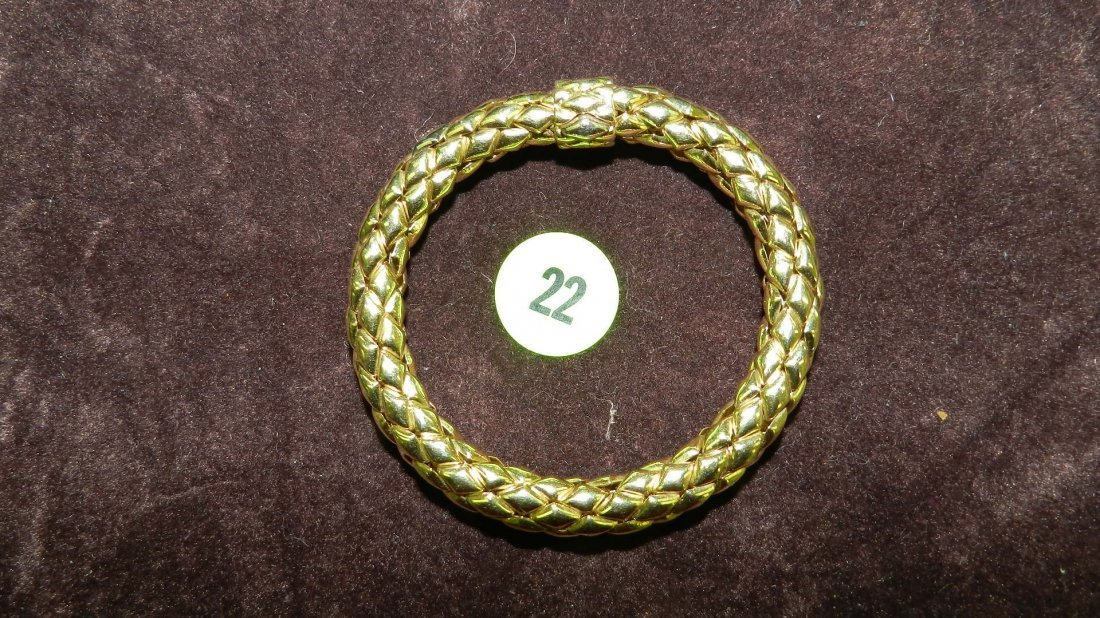 22: nice ladies gold (18KT stamped 750)  bracelet TL gr