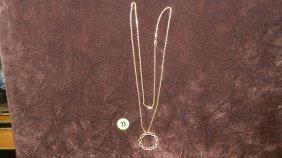 Nice Ladies Gold (14KT) Necklace With Diamond Penda