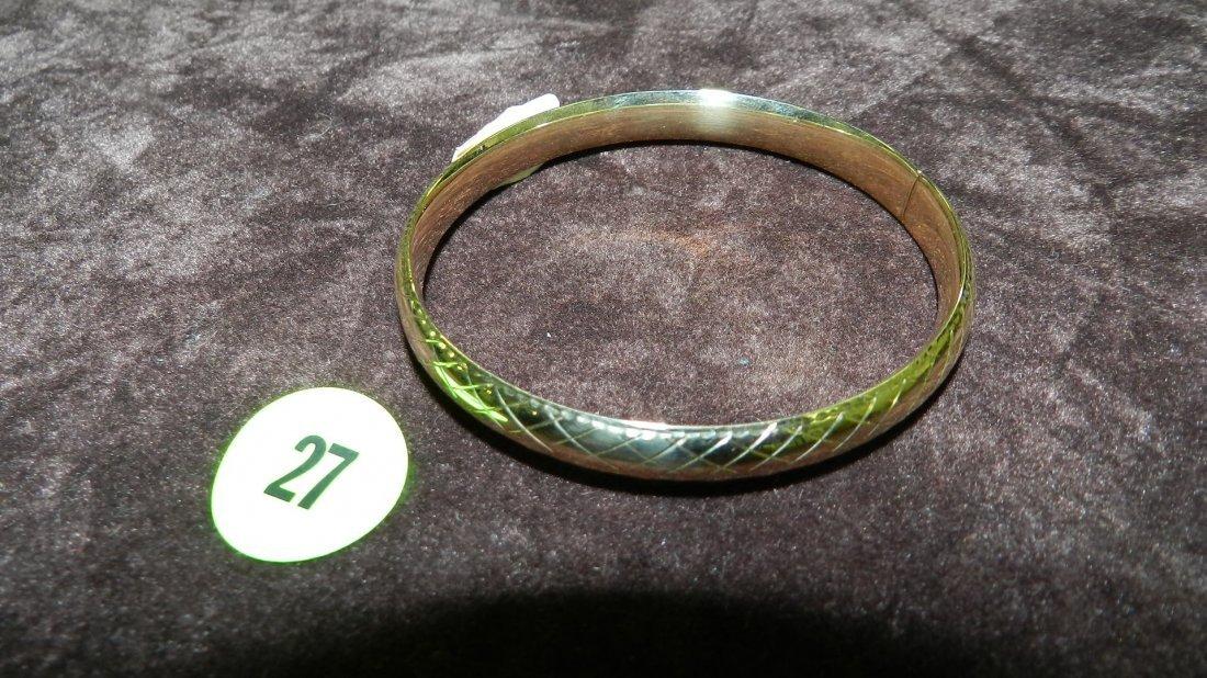 27: nice ladies gold (14KT) bangle bracelet TL gr's app