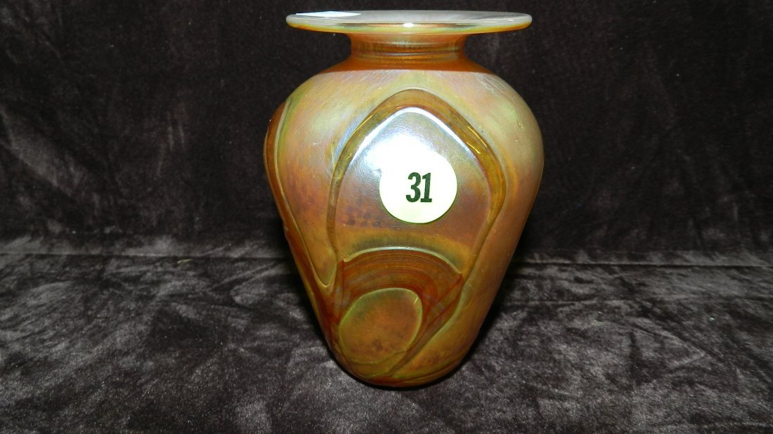 31: nice small art glass vase