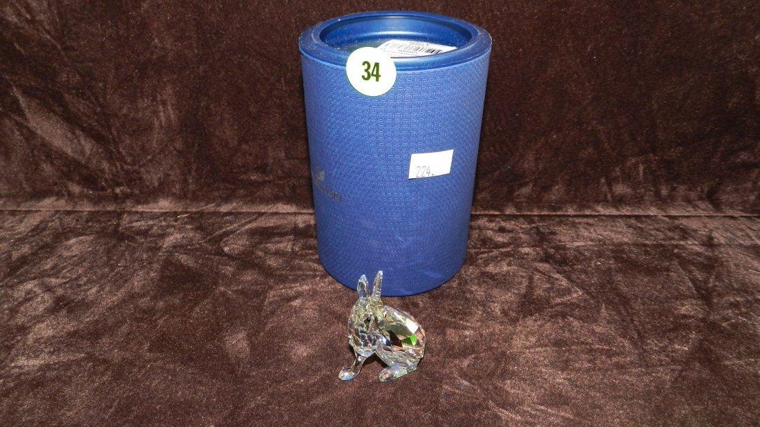 34: great marked Swarovski crystal rabbit figurine in b