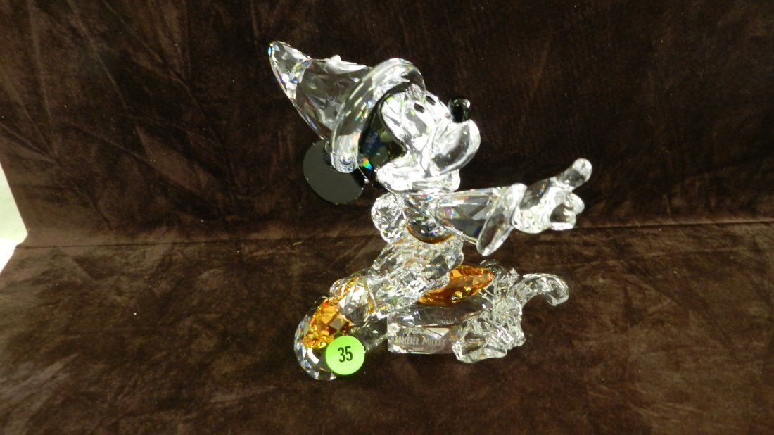 35: great marked Swarovski crystal Michey Mouse figurin
