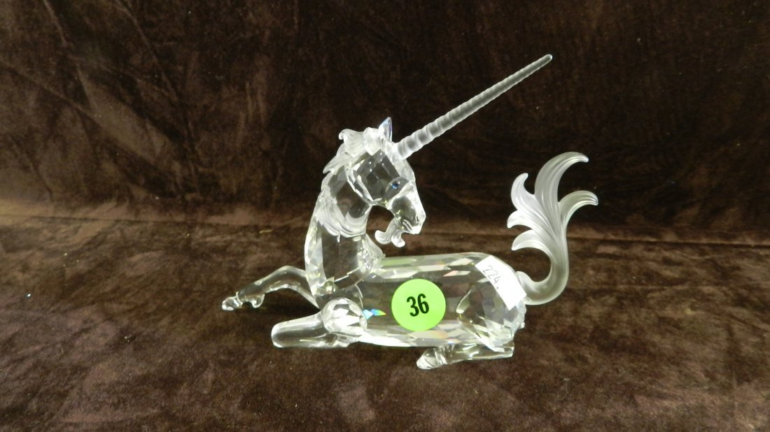 36: great marked Swarovski crystal Unicorn figurine no