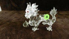 Great Marked Swarovski Crystal Dragon Figurine No B
