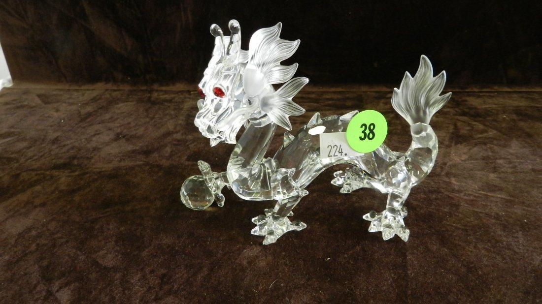 38: great marked Swarovski crystal dragon figurine no b