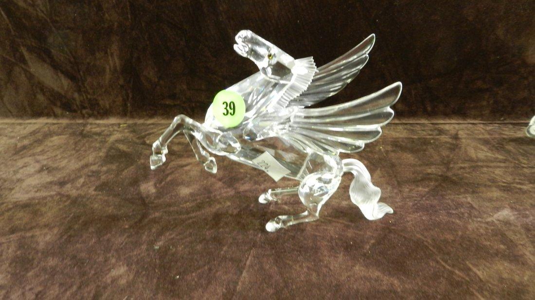 39: great marked Swarovski crystal pegasus figurine no