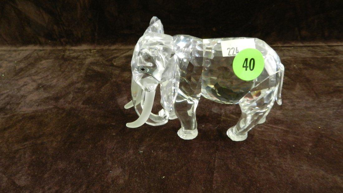 40: great marked Swarovski crystal Elephant figurine no