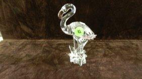 Great Marked Swarovski Crystal Flamingo Figurine No
