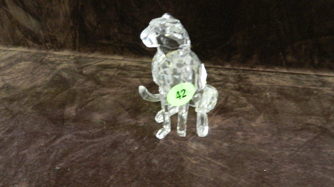 42: great marked Swarovski crystal cougar (missing smal