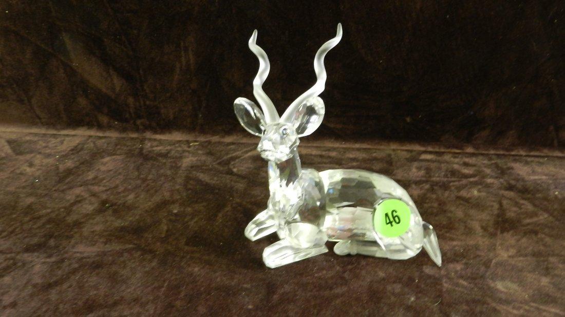 46: great marked Swarovski crystal deer figurine no box