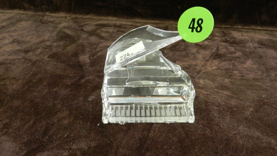 48: great marked Swarovski crystal piano no box