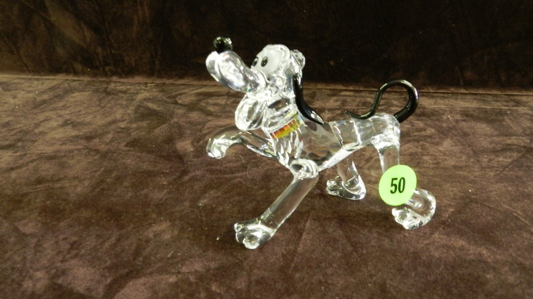 50: great marked Swarovski crystal Pluto dog no box
