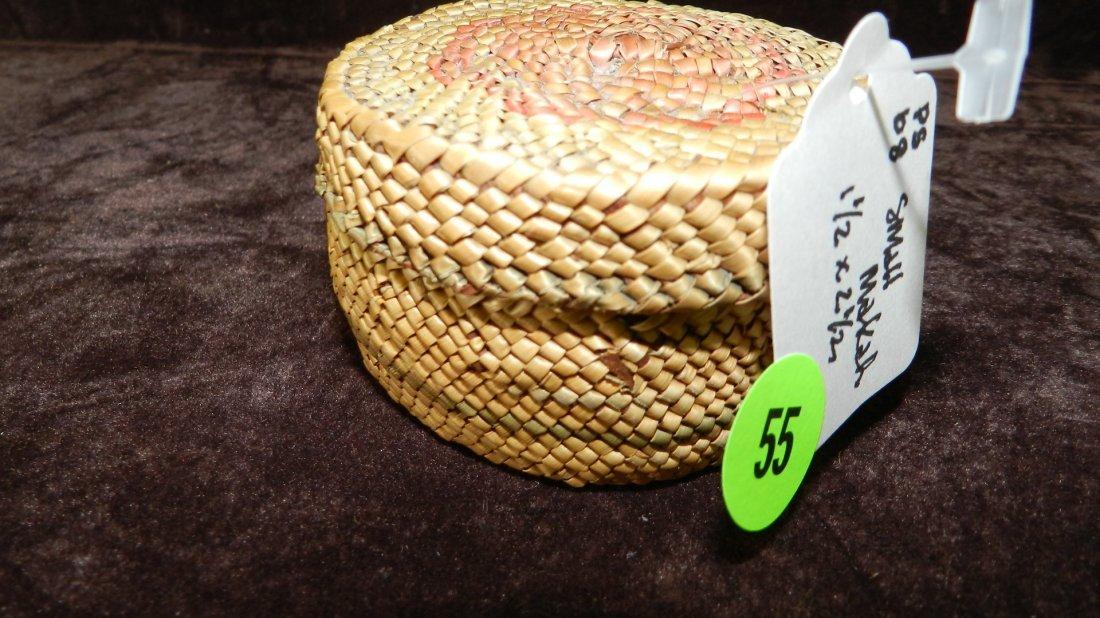 55: authentic Native American handmade woven basket / b