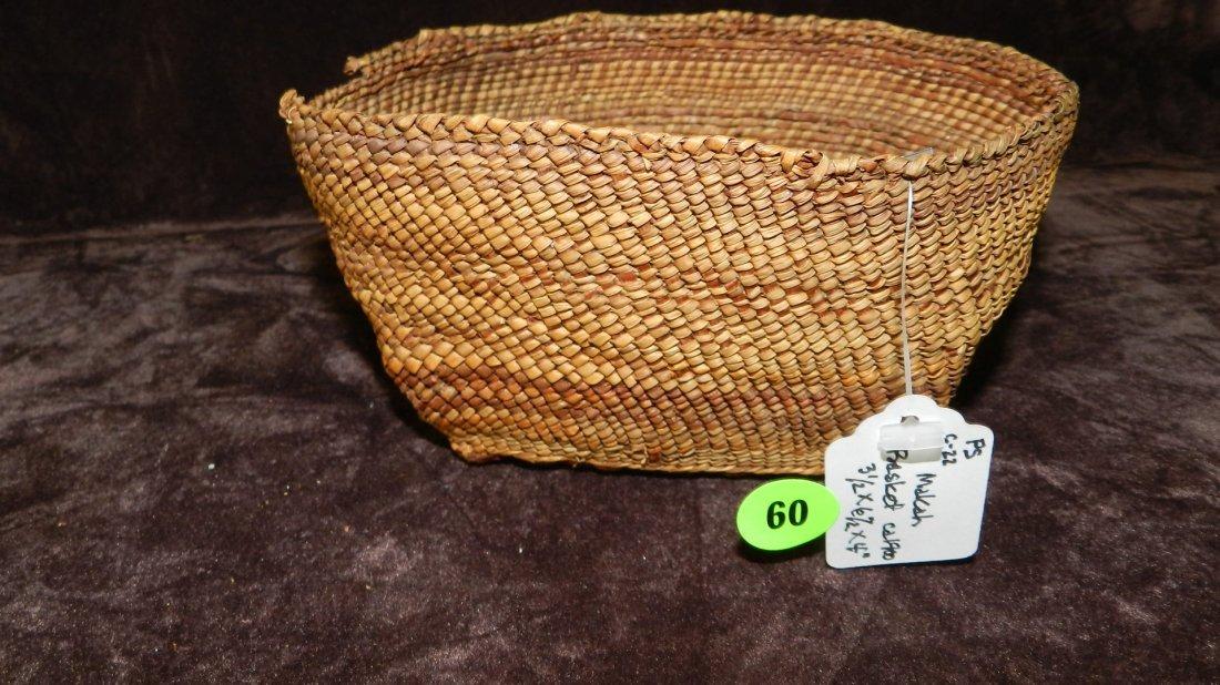 60: authentic Native American handmade woven basket / b