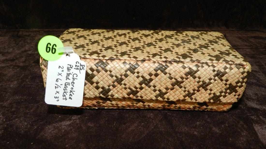 66: authentic Native American handmade woven basket / C
