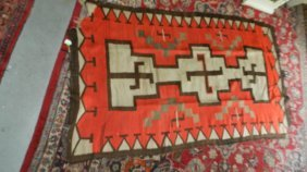 Authentic Native American Handmade Woven Navajo Rug