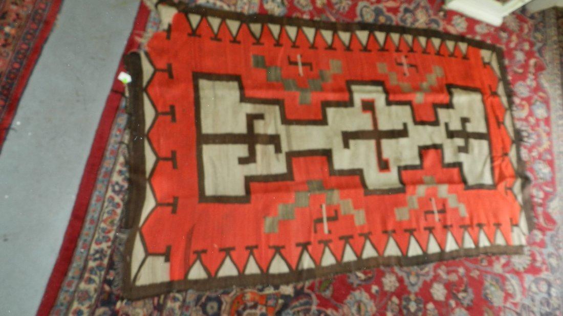 68: authentic Native American handmade woven Navajo rug