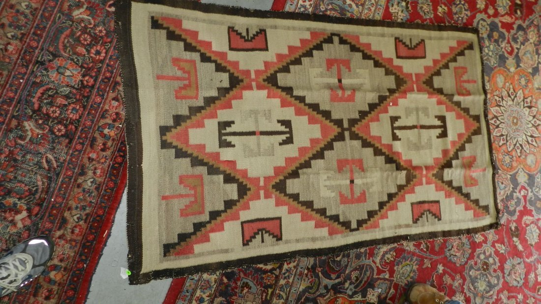 69: authentic Native American handmade woven Navajo rug