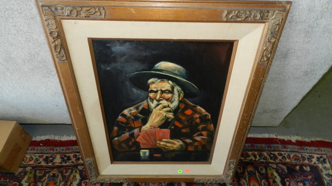 82: oil painting on canvas the gambler
