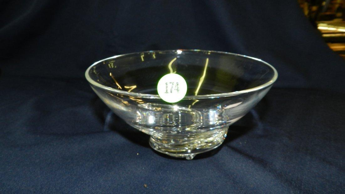 174: vintage signed Steuben crystal bowl