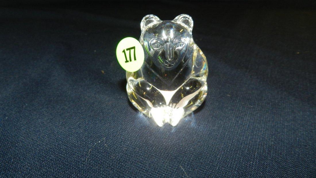 177: vintage signed Steuben crystal bear