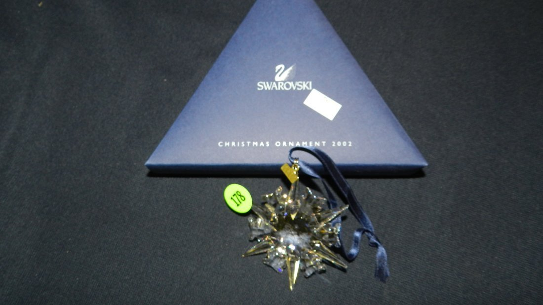 178: great marked Swarovski crystal Christmas Snowflake
