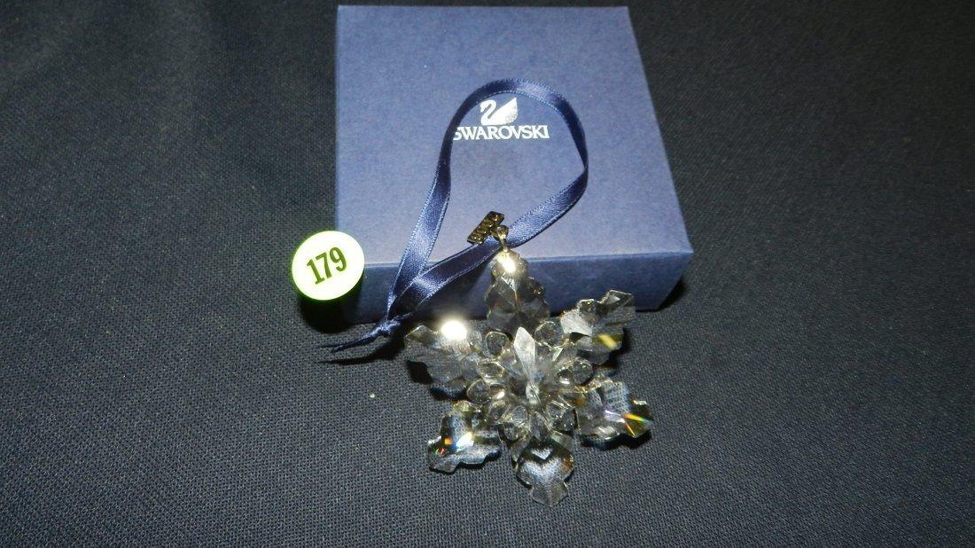 179: great marked Swarovski crystal Christmas Snowflake
