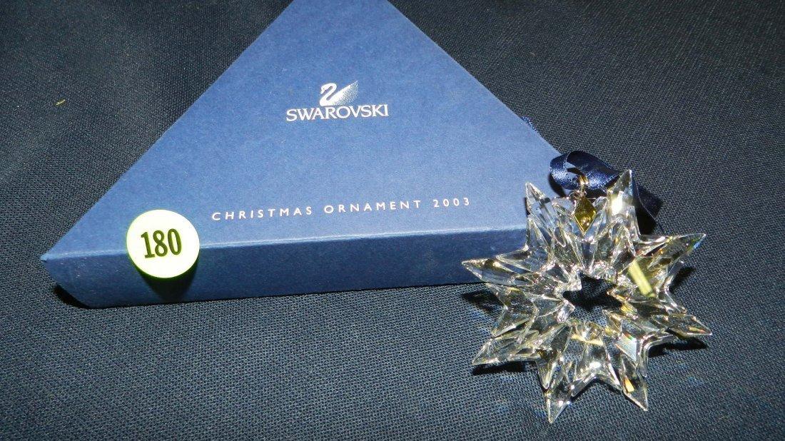 180: great marked Swarovski crystal Christmas Snowflake