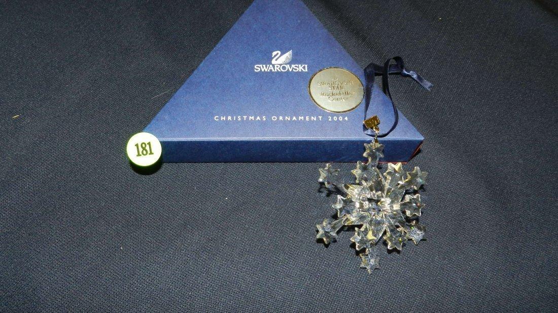181: great marked Swarovski crystal Christmas Snowflake