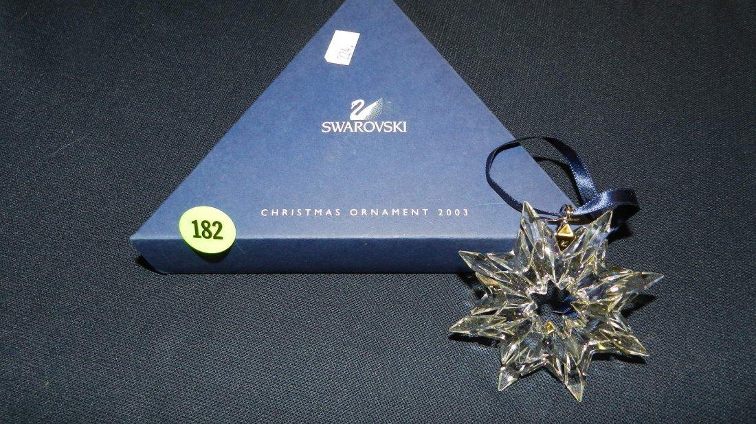 182: great marked Swarovski crystal Christmas Snowflake