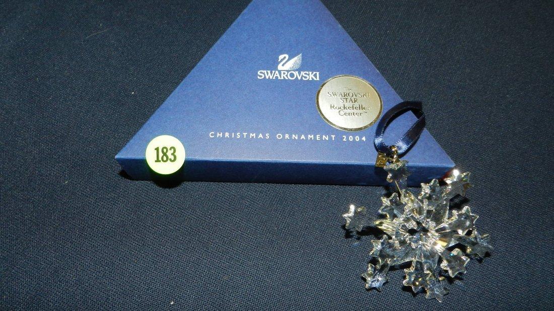 183: great marked Swarovski crystal Christmas Snowflake
