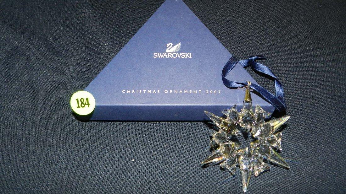 184: great marked Swarovski crystal Christmas Snowflake