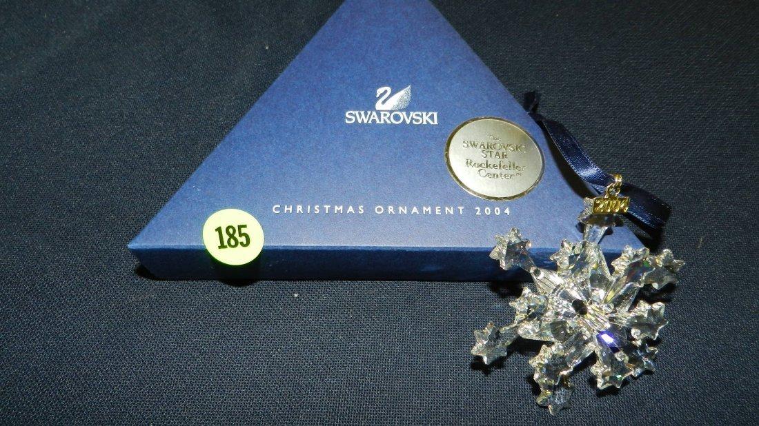185: great marked Swarovski crystal Christmas Snowflake