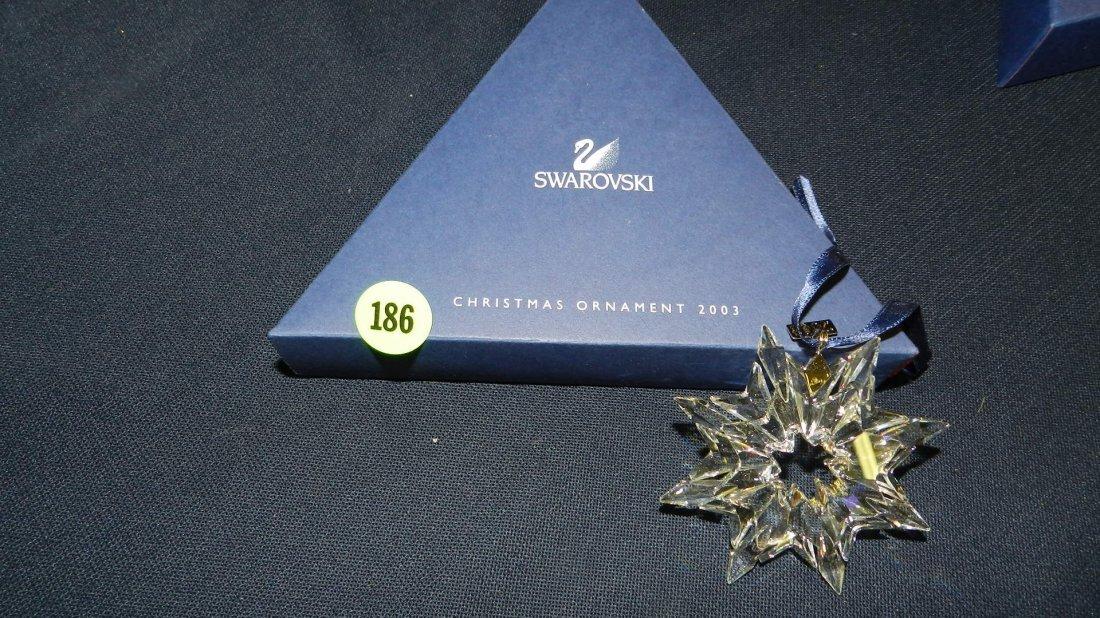 186: great marked Swarovski crystal Christmas Snowflake
